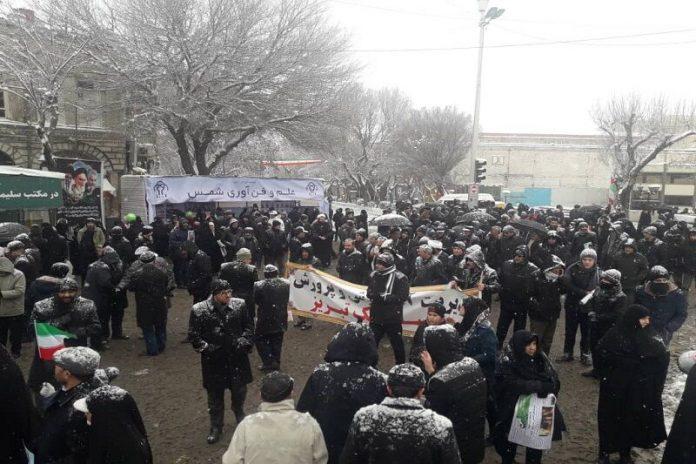 شکوه ۴۱ سال اقتدار در هوای برفی آذربایجانشرقی