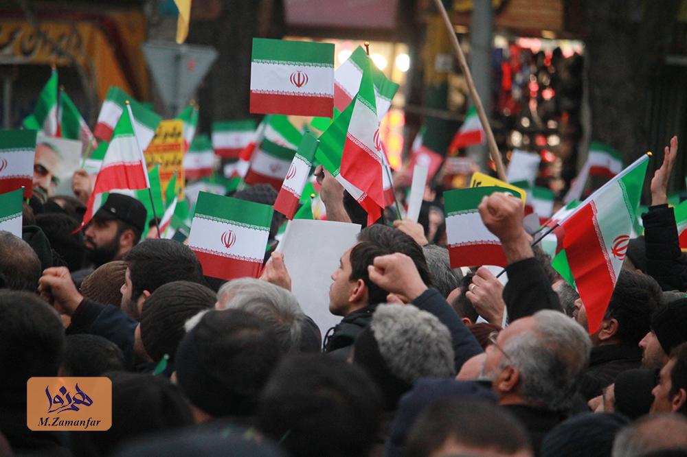 تجمع مردم تبریز به مناسبت شام غریبان سردار سلیمانی