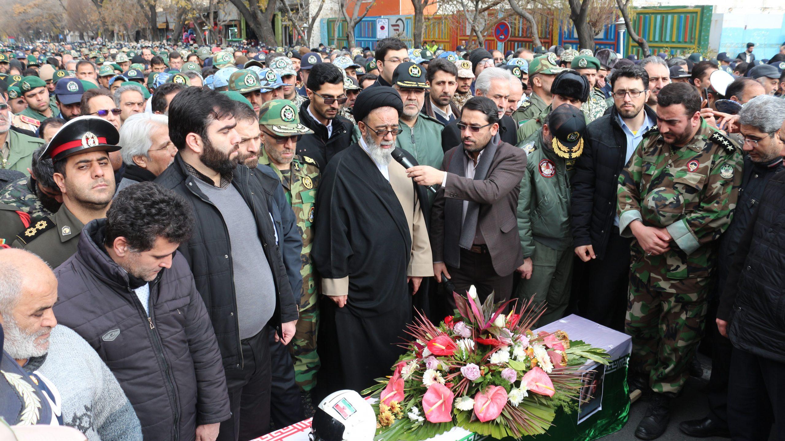 تشییع شهید خلبان محمد رضا رحمانی