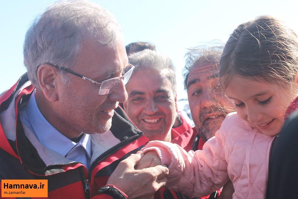 حضور سخنگوی دولت در مناطق زلزله زده میانه
