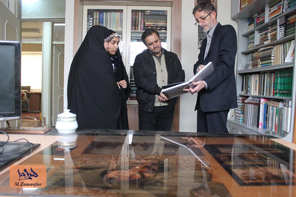 دیدار صمیمی کارکنان سازمان رسانه ای طوبی با حاج بهزاد پروین قدس