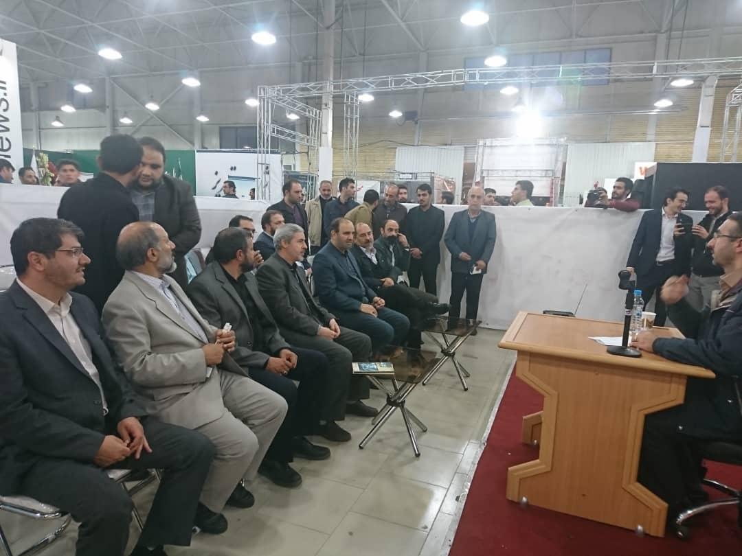 گزارش تصویری از غرفه مرکز رسانه ای طوبی در نمایشگاه مطبوعات تبریز