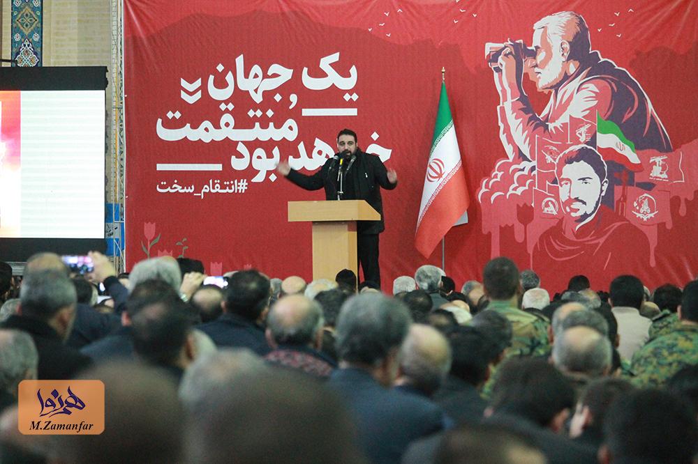 مراسم بزرگداشت سردار شهید سلیمانی در تبریز