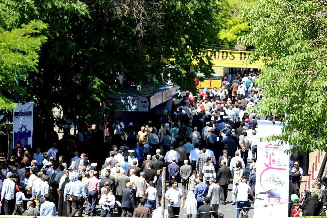 حضور پر شور تبریزیها در راهپیمایی روز قدس