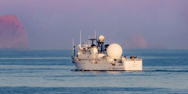 نشنال اینترست: کشتی جاسوسی آمریکا در خلیج فارس بر فعالیت موشکی ایران نظارت میکند