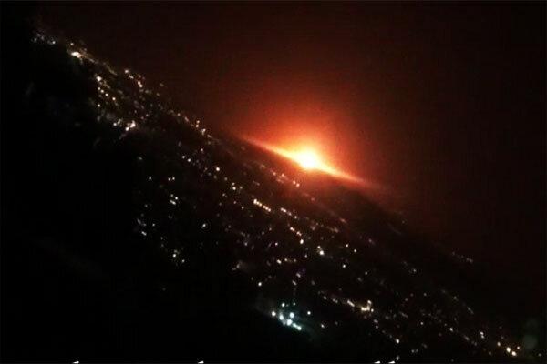 صدای مهیب در شرق تهران/آسمان نارنجی شد