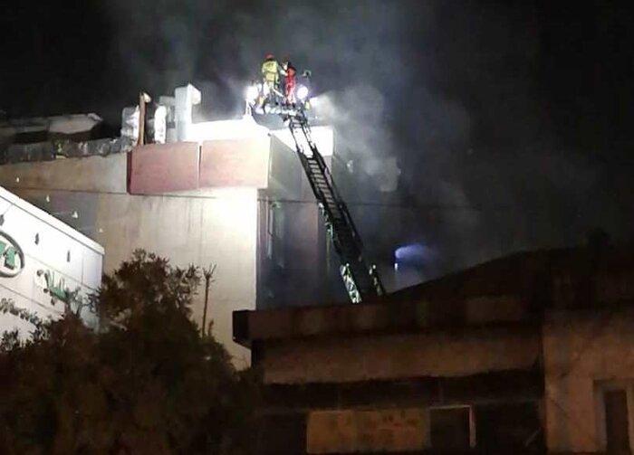 آتش سوزی و انفجار در یک کلینیک پزشکی تهران