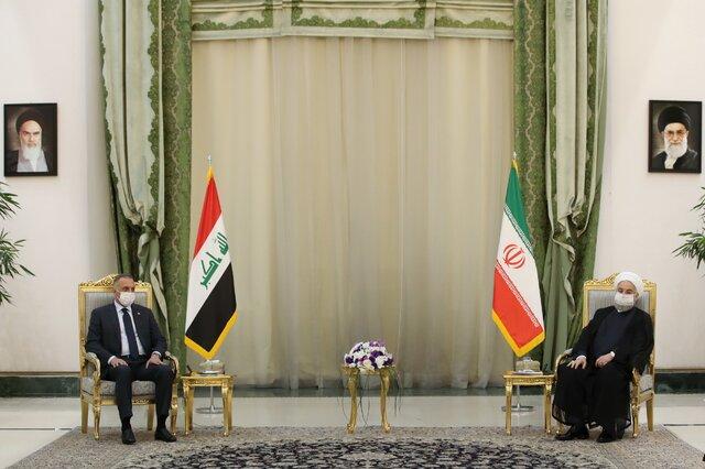 روحانی و نخست وزیر عراق تاکید کردند: حاکمیت و امنیت ملی ایران و عراق به هم گره خورده است