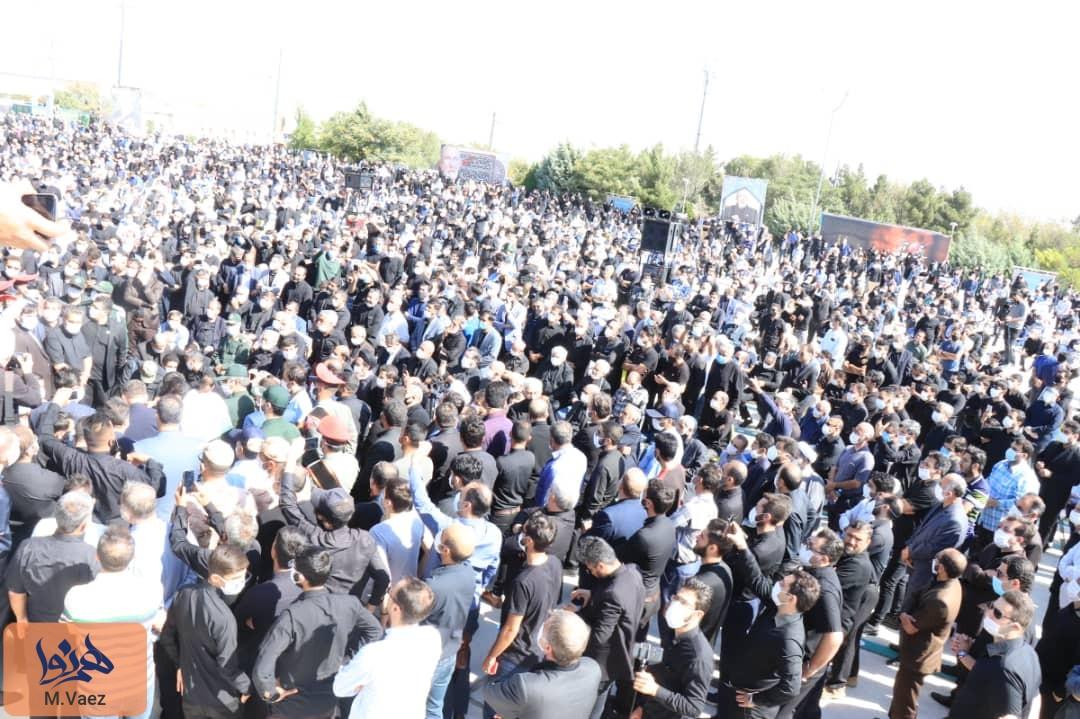 گزارش تصویری از مراسم خاکسپاری حاج فیروز زیرک کار مداح نام آشنای تبریزی