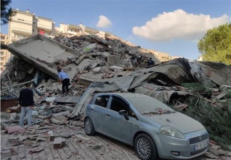آخرین اخبار از زلزله ازمیر/۲۴ جان باخته و ۸۰۴ مجروح
