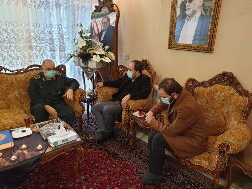 سردار سلامی در دیدار خانواده شهید فخری زاده : رژیم صهیونیستی تاوان خواهد داد