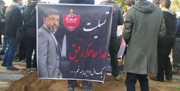 پیکر علی انصاریان در بهشت زهرا تشییع و به خاک سپرده شد+عکس و فیلم