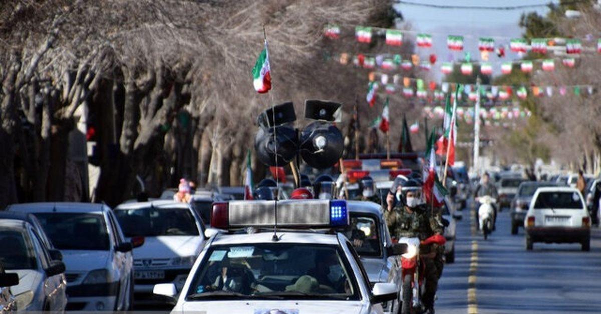 آغاز رژه خودرویی یوم الله ۲۲ بهمن در آذربایجان شرقی