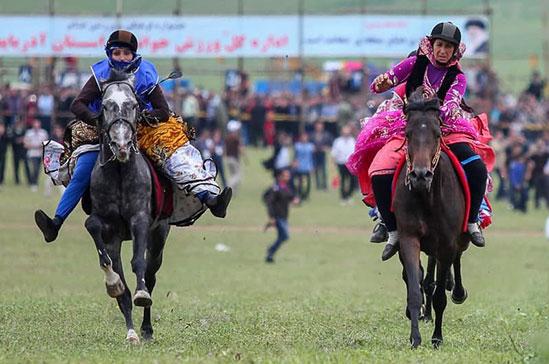 حضور زنان در جشنواره اسب دوانی ارسباران