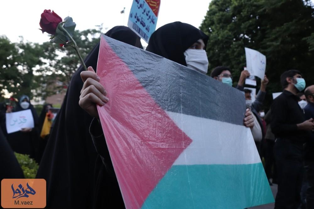 تجمع مردمی حمایت از غزه در تبریز
