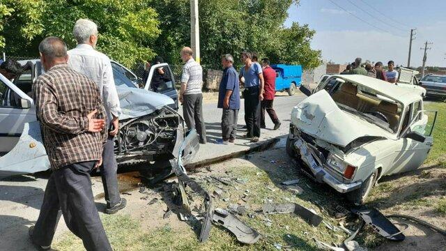 سانحه رانندگی در بناب با یک کشته و ۵ مصدوم