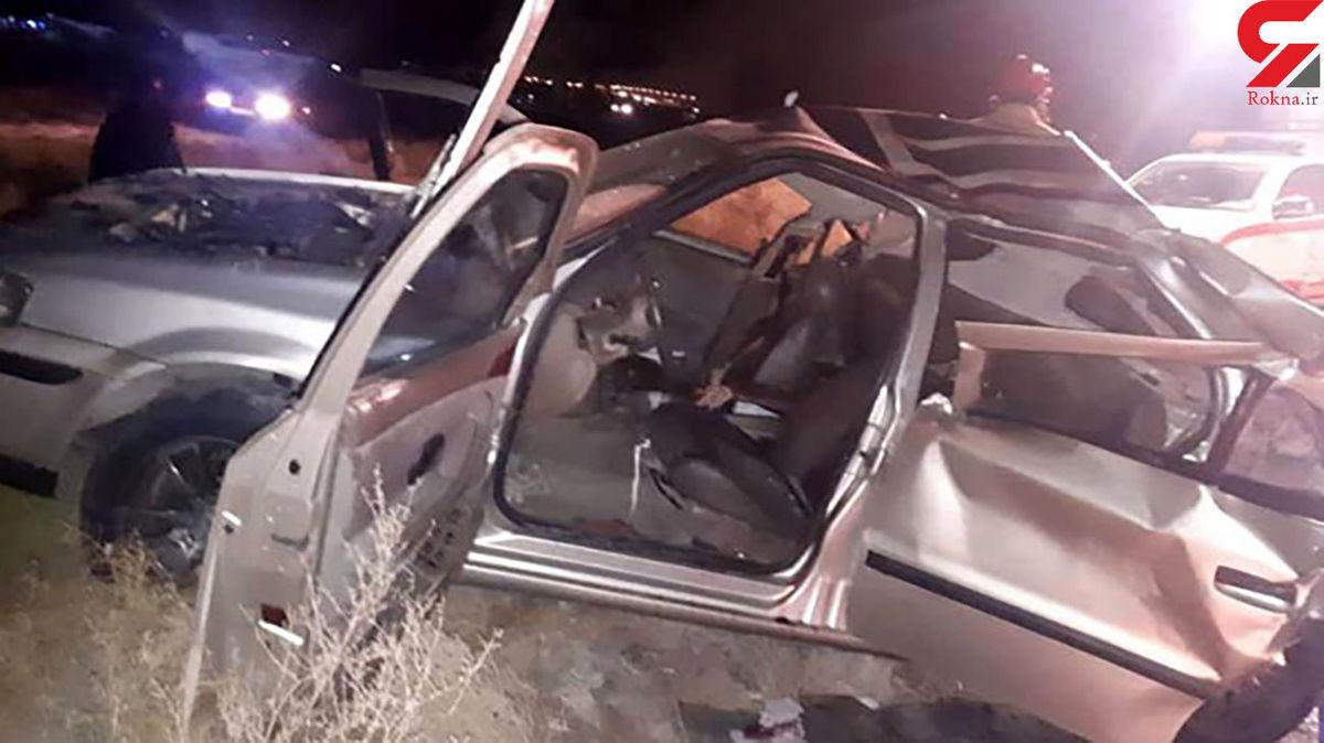 کشته شدن 9 نفر داخل سمند در تصادف با اتوبوس
