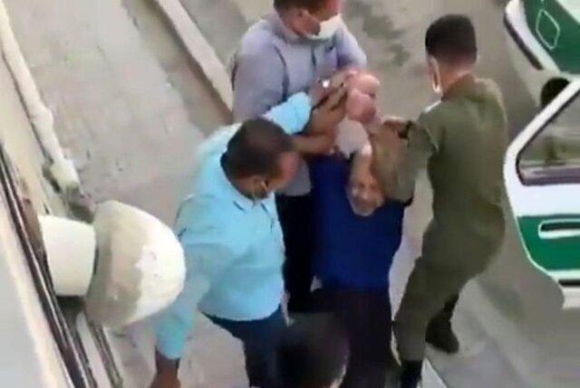 توضیح پلیس در مورد ویدیوی دستگیری یک جانباز
