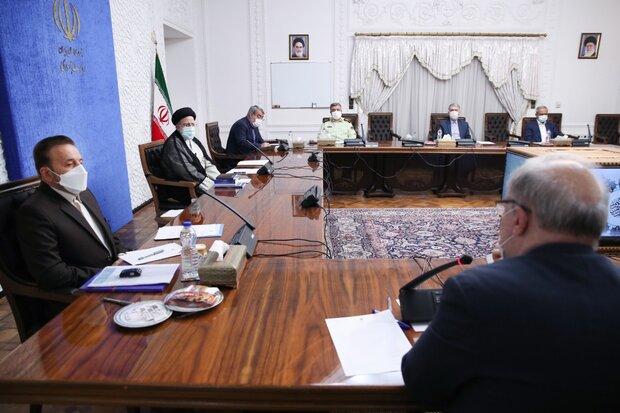 اولین جلسه رئیسی با رؤسای کمیتههای تخصصی ستاد ملی کرونا