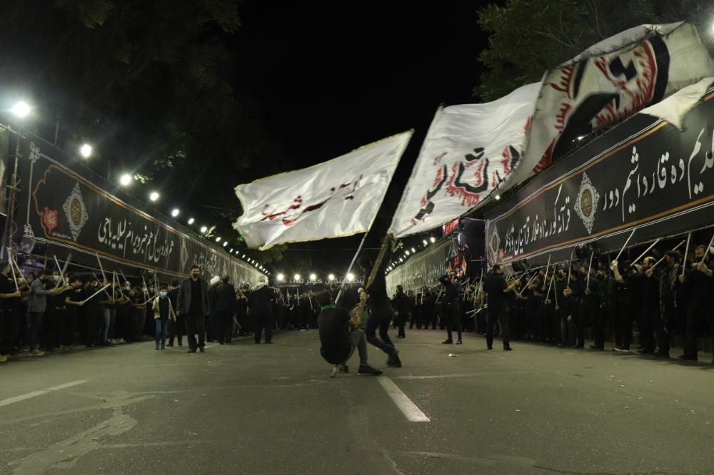 عزاداری هیئت های مختلف در شهر تبریز