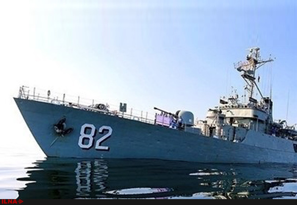 ناوگروه ۵۸ نیروی دریایی ارتش در بندرعباس پهلو گرفت