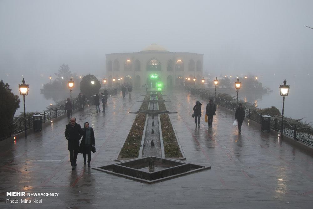 هوای تبریز مه آلود است نه آلوده