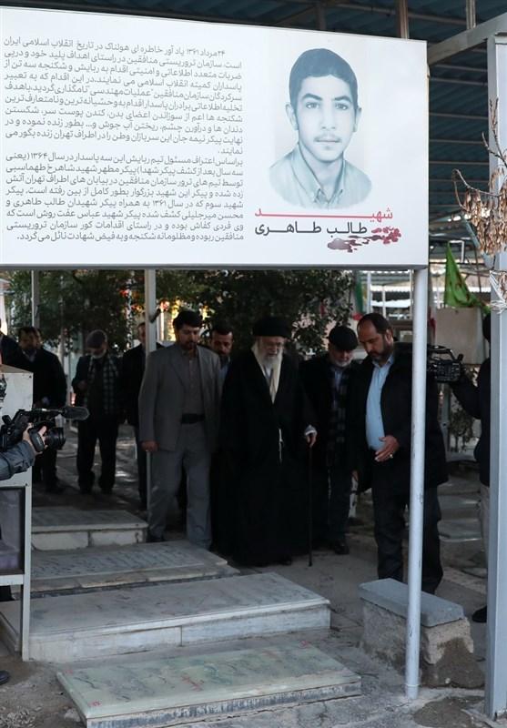 حضور امام خامنهای بر سر مزار شهدای «عملیات مهندسی» + عکس