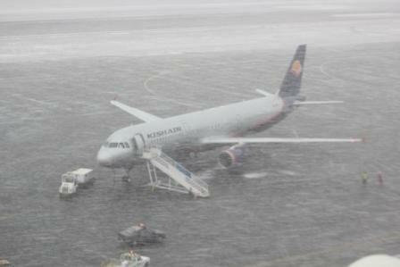 برقراری پروازهای فرودگاه تبریز با وجود بارش برف/ انجام پروازهای عتبات عالیات از 16 بهمن ماه