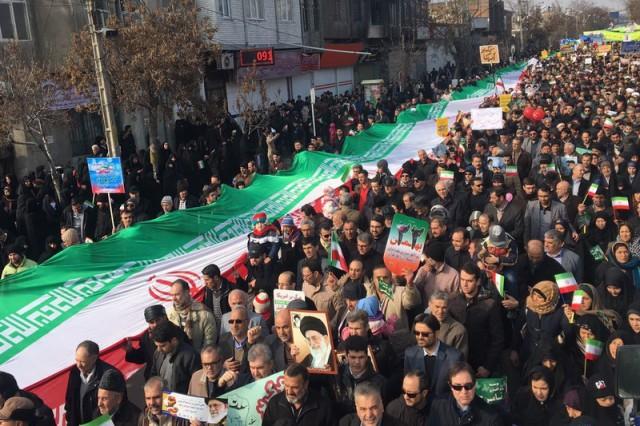 در جشن چهل سالگی انقلاب، مردم تبریز بازهم حماسه آفریدند