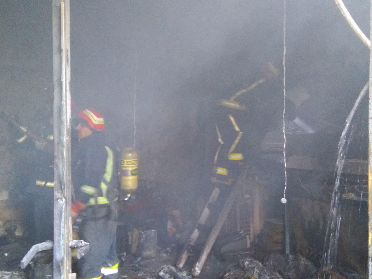 یک فوتی بر اثر آتش سوزی در بازار حرمخانه تبریز