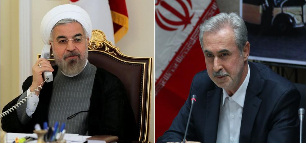 تماس تلفنی رئیس جمهور با استاندار آذربایجانشرقی