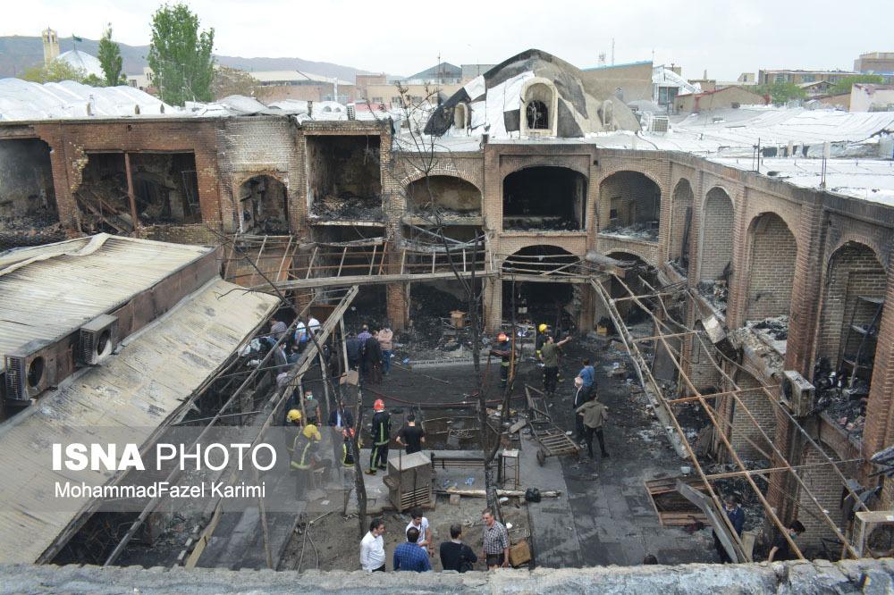 پیام باشگاه تراکتور در پی آتشسوزی عظیم بازار تبریز