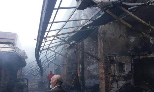 آتش سوزی بازار تبریز ۵ میلیارد ریال به شبکه برق خسارت زد