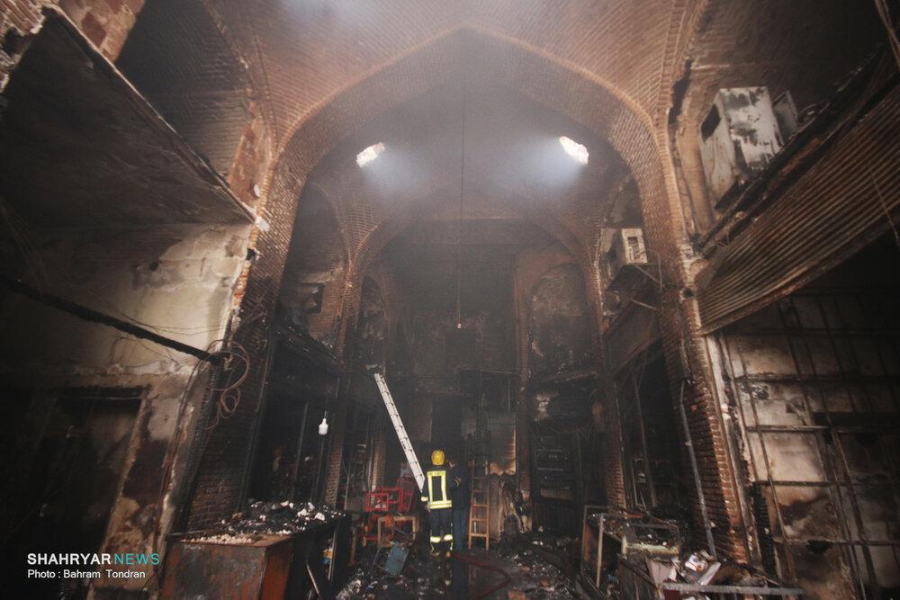 دلیل آتشسوزی بازار تبریز مشخص شد