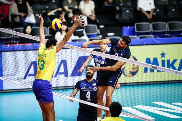 باخت آبرومندانه والیبال ایران برابر برزیل