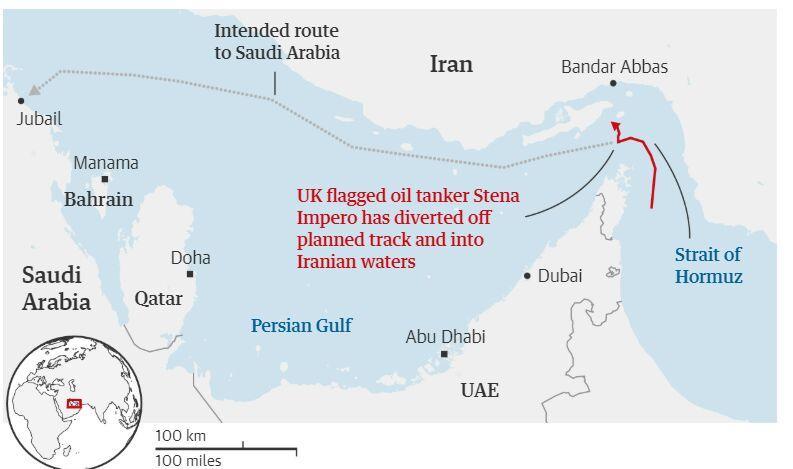 نفتکش انگلیسی حادثه ساز بود