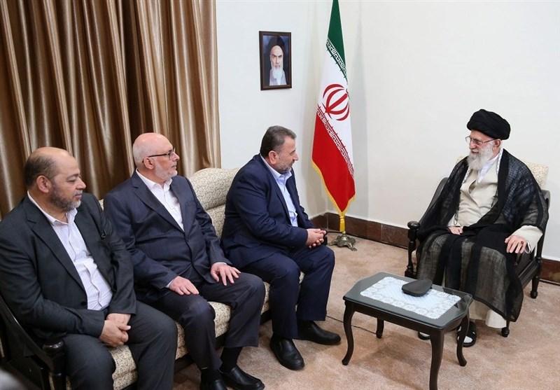 نایب رئیس دفتر سیاسی حماس با امام خامنهای دیدار کرد