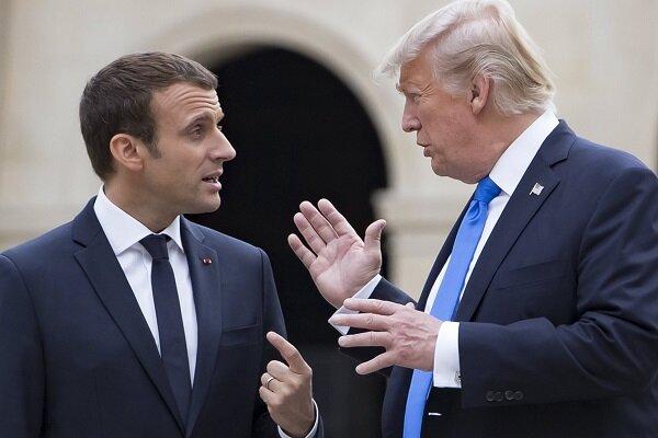 ترامپ و ماکرون درباره ایران گفتگو کردند