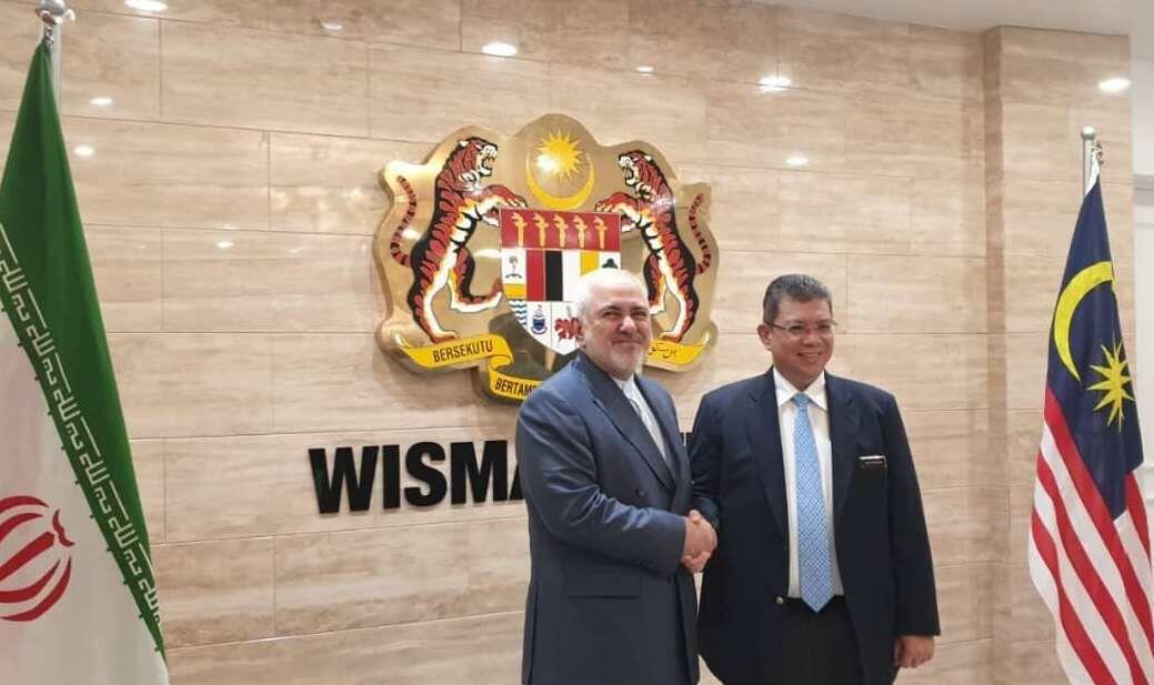 دیدار ظریف و وزیر خارجه مالزی ؛ مالزی و ایران متعهد به همکاری برای حفظ منافع مشترک شدند