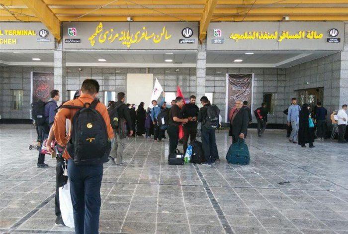 زائران اربعین در مرز شلمچه متوقف شدند