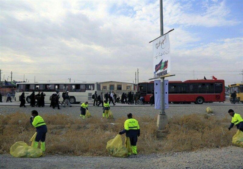 پاکبانان تهران ۴۰۶ تُن زباله در مرز مهران جمعآوری کردند