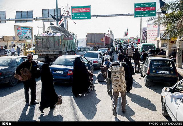 ترافیک پیش روی زوار اربعین