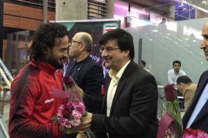 اعضای تیم ملی فوتبال ساحلی وارد ایران شدند