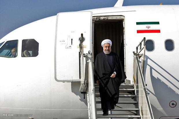 رئیسجمهور ساعتی پیش عازم تهران شد