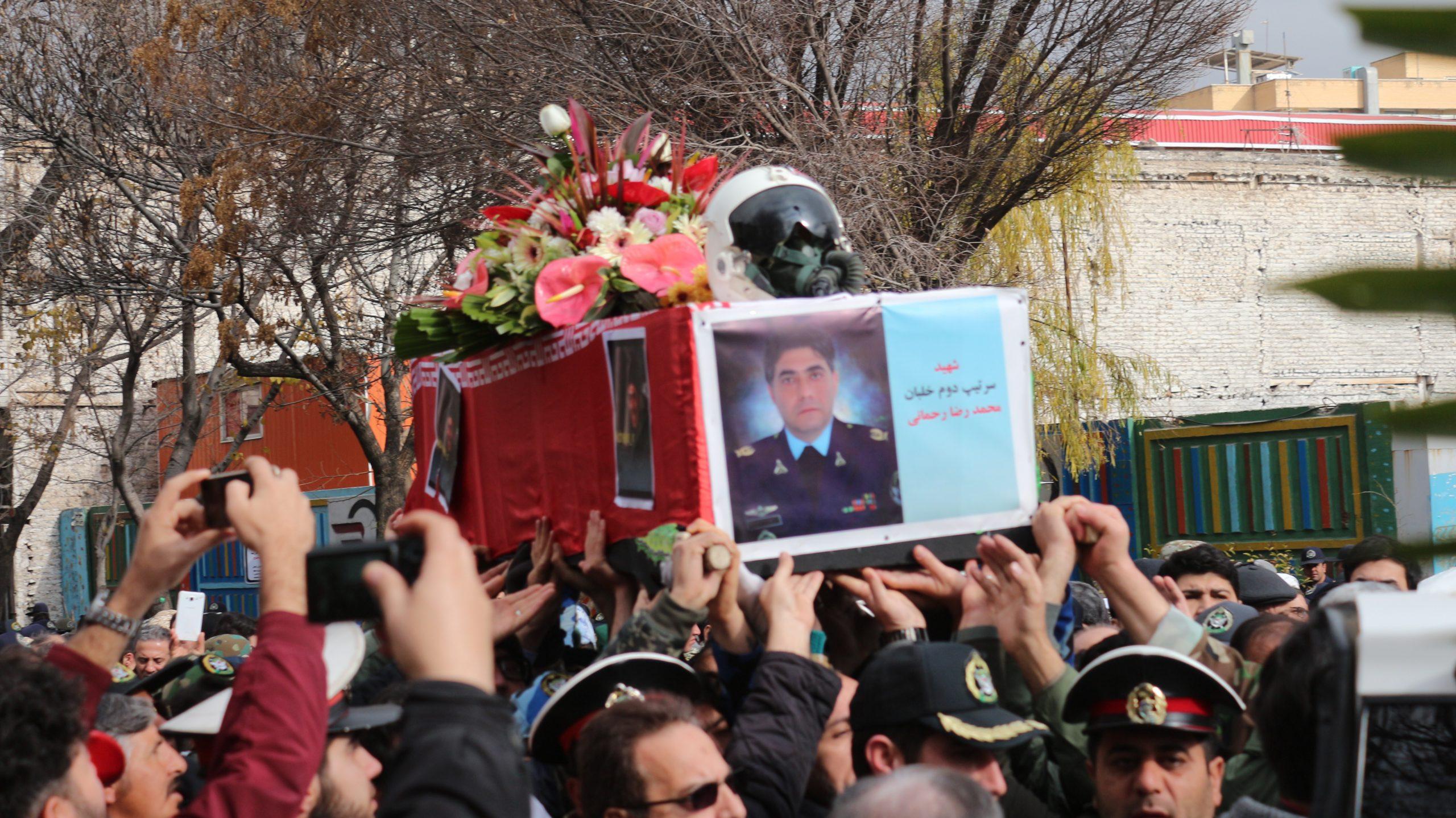 گزارش تصویری تشییع شهید خلبان محمد رضا رحمانی