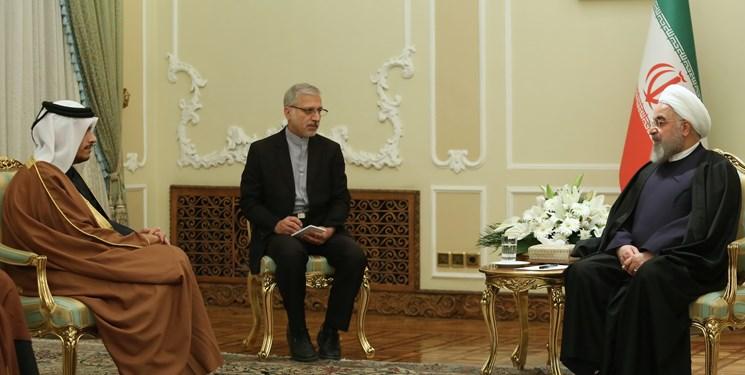 روحانی در دیدار وزیر خارجه قطر: آمریکا هزینه سنگینی پرداخت خواهد کرد
