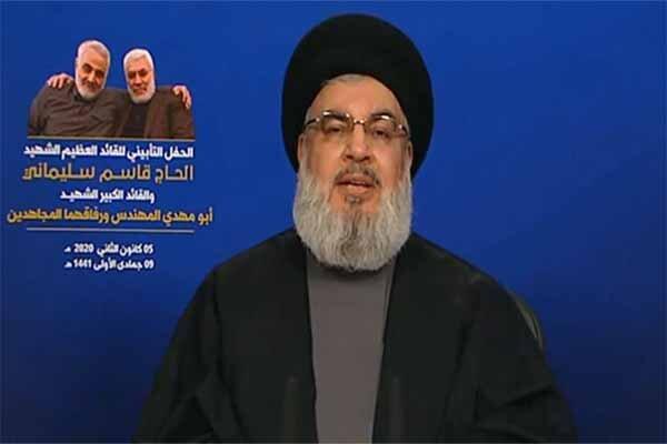 سیدحسن نصرالله: شهادت سردار سلیمانی شروع تاریخ جدیدی در منطقه است