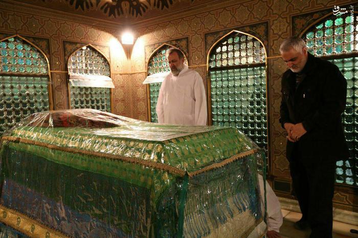 آخرین تشرف حاج قاسم سلیمانی به حرم مطهر رضوی