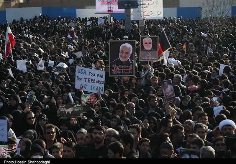 مراسم تشییع سردار شهید سلیمانی در زادگاهش