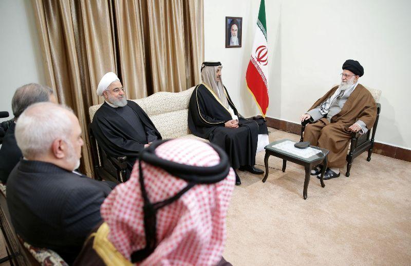 رهبر معظم انقلاب اسلامی در دیدار امیر قطر و هیات همراه:علت وضع نامناسب منطقه فساد انگیزی آمریکا و رفقای آن است